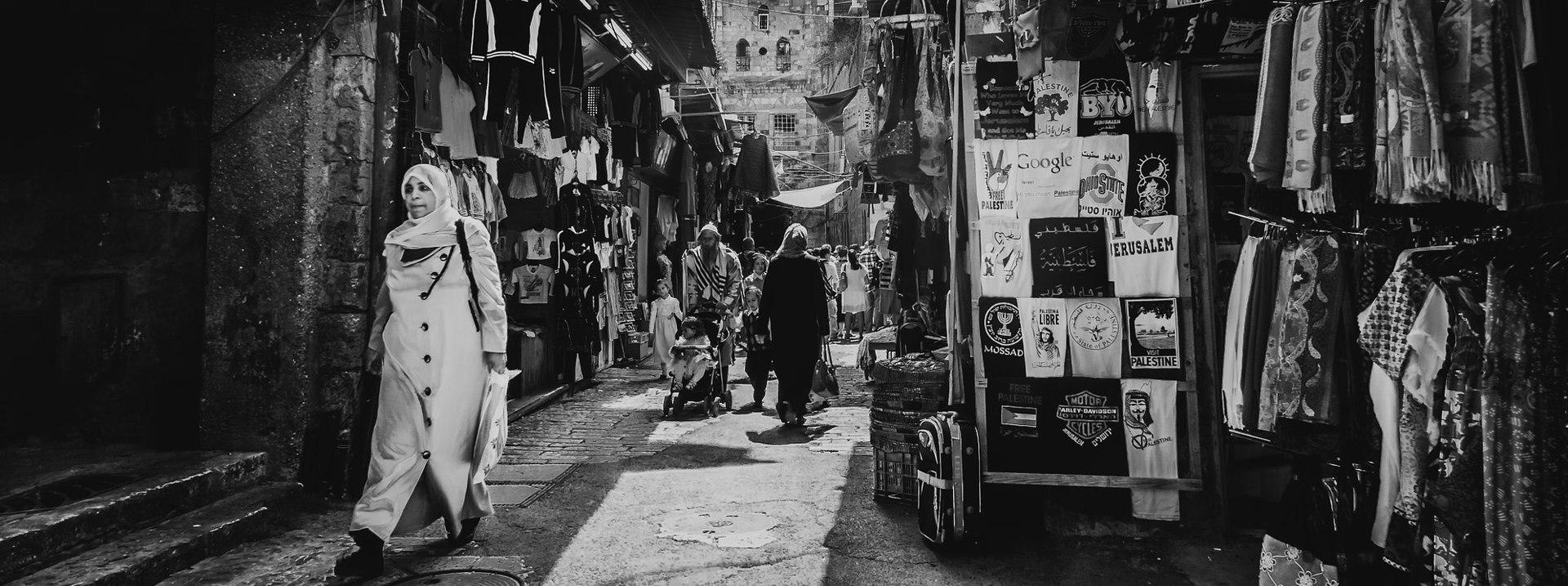 Old City Souk, Jerusalem (in black and white)