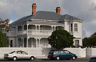 Herne Bay, New Zealand - A large wooden house on Jervois Road, Herne Bay.