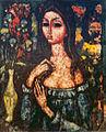 Jeune femme avec bouquet de fleurs par Enrico Campagnola.jpg