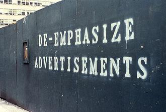 Artivism - Work by John Fekner at Madison Avenue, New York City, USA