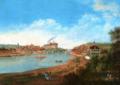 Johann Friedrich Nagel - Meissen, Stadtansicht von Süden auf Elbe, Brücke und Burg.png