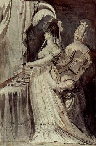 Brinsley Ford - Johann Heinrich Füssli, Lady at dressing table, Brinsley Ford collection