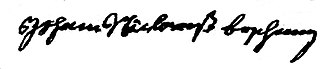 Bushong - Johann Nicholas Boschung's signature on the 1732 Oath of Allegiance.