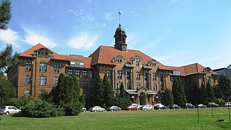 Blue Mountain State - The Herzberg building on the John Abbott College campus, which doubles as Blue Mountain State University in the show.