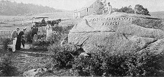 John Brown Farm State Historic Site - John Brown's grave, 1896, S R Stoddard.