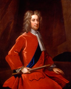 The Duke of Marlborough, painted after his stroke c. 1719/20 (Enoch Seeman) John Churchill, 1st Duke of Marlborough (1650-1722).jpg