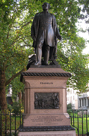 John Franklin - Statue of John Franklin in London