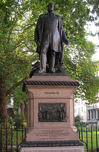 "John Franklin - ""Discoverer of the North West Passage"", Waterloo Place, London"