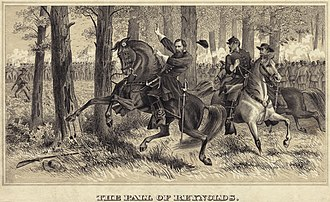 "I Corps (Union Army) - ""The Fall of Reynolds"" – drawing of Reynolds' death at Gettysburg"