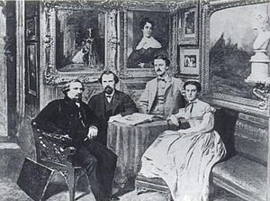 Emily Sartain - John Sartain with Henry, William, and Emily, 1868