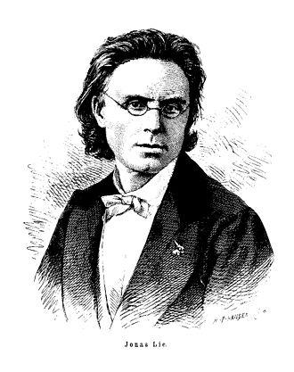 Jonas Lie (writer) - Jonas Lie. Engraving by Hans Peter Hansen (1874)