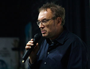 Josef Hader - Josef Hader at the University of Vienna speaking at the 2009 student protests in Austria