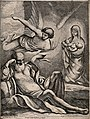 Joseph is told in a dream to flee to Egypt with Mary and Jes Wellcome V0034597.jpg