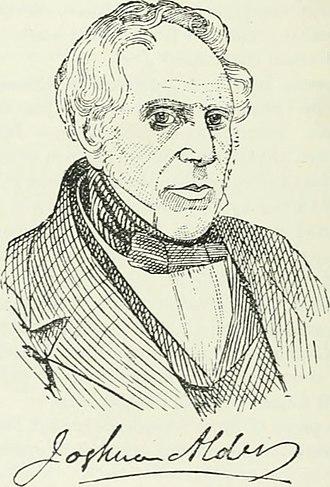 "Joshua Alder - Sketch of Joshua Alder from ""Men of mark 'twixt Tyne and Tweed"" by Richard Welford, 1895."