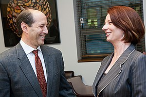 English: Ambassador Bleich with Prime Minister...