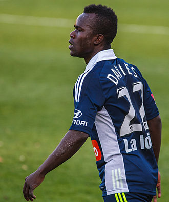 Julius Davies - Davies playing for Melbourne Victory in 2012