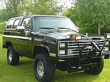 1985 1988 K5 Blazer Equipped For Snow Plowing