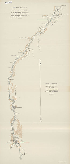 Borders of Suriname - The section of the Maroni River on which the Netherlands and France concluded a border treaty in 1915.