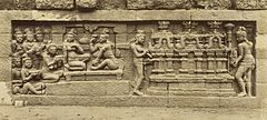 KITLV 40077 - Kassian Céphas - Relief of the hidden base of Borobudur - 1890-1891.jpg