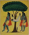 Kalighat Lava & Kusha taking Hanuman.jpg