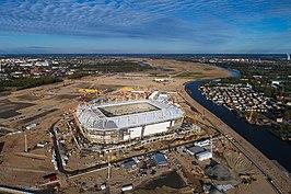 Stadion tijdens de bouw