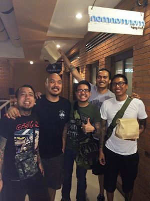 Kamikazee - from left to right: Contreras, Burdeos, Linao, Tuyay and Astete