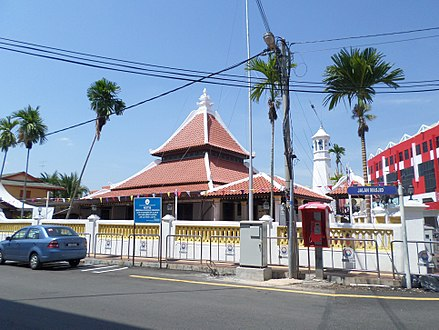 Kampung Hulu Mosque, the oldest mosque in Malaysia, influenced by the Malay, Chinese and Hindu architecture