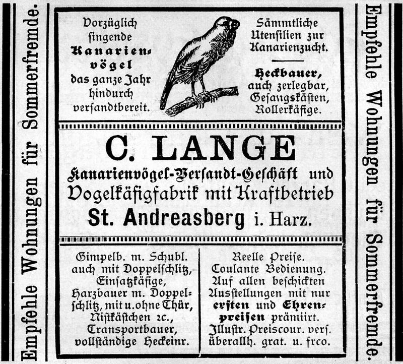 Der Harzer Roller oder  Umweltfreundlicher Brand & Gasmelder 800px-Kanarienv%C3%B6gel-Versandt-Gesch%C3%A4ft_C._Lange