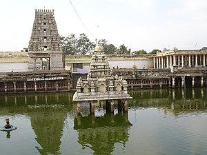 Kamakshi Amman Temple - Image: Kanchipuram.in Kamakshi Amman Temple panoramio