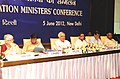 Kapil Sibal chairing the State Education Ministers' Conference, in New Delhi on June 05, 2012. The Minister of State for External Affairs and Human Resource Development, Shri E. Ahamed and other dignitaries are also seen.jpg