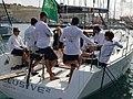 Karen Earle Lile on location in Malta interviewing winners of Middle Sea Race for Sail Sport Talk live broadcast.jpg