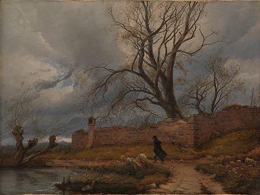 Karl Julius von Leypold - Wanderer im Sturm