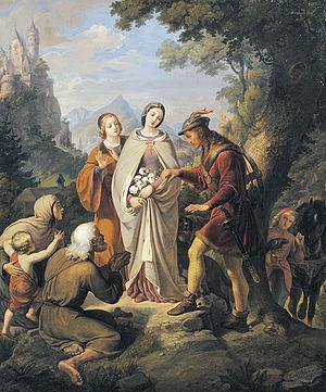 Miracle of the roses - Miracle of the roses by Karl von Blaas