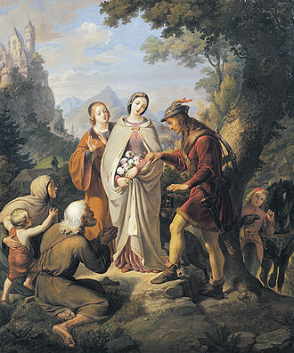 Miracle of the roses - Miracle of the roses by Karl von Blaas