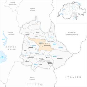 Karte Gemeinde Bellinzona 2010