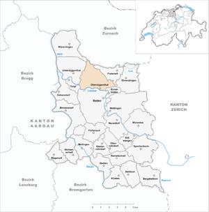 Obersiggenthal - Image: Karte Gemeinde Obersiggenthal 2007