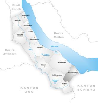 Richterswil - Image: Karte Gemeinde Richterswil