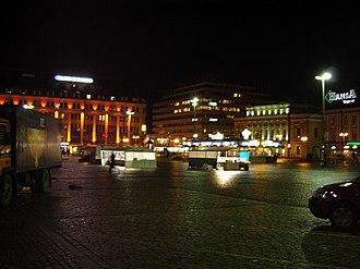 Market Square, Turku - Image: Kauppatori aamulla
