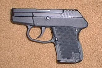 Ancillary weapon - The subcompact Kel-Tec P-32 is designed for concealed carry by law enforcement officers as a back-up gun; all edges are rounded and smoothed and nothing protrudes from the gun to get caught on clothing.