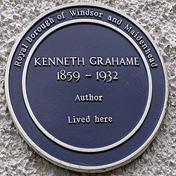 Photo of Kenneth Grahame blue plaque