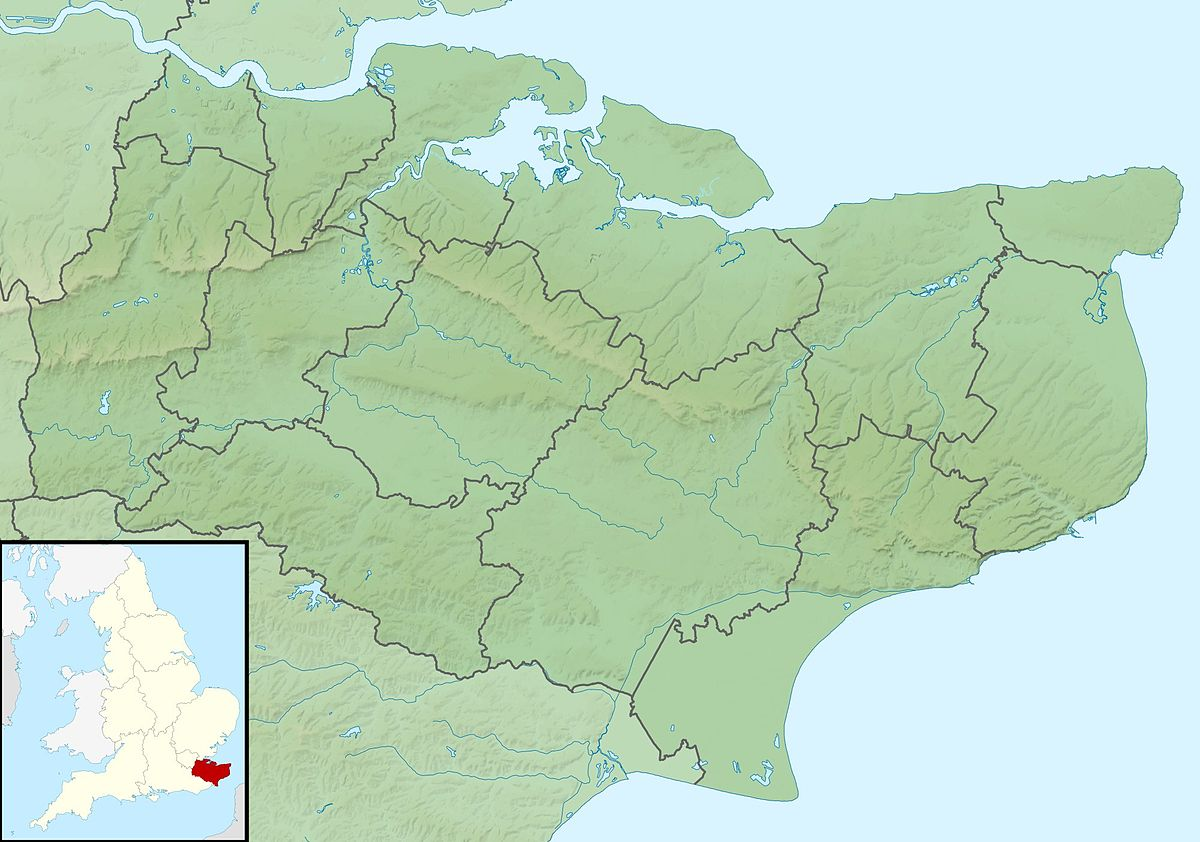 Map Of England Kent.File Kent Uk Relief Location Map Jpg Wikimedia Commons