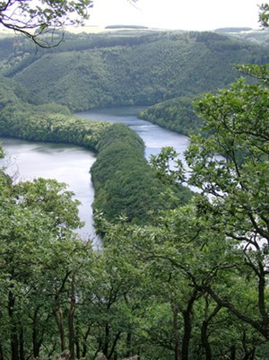 Eifel National Park - View from Kermeter of the Urft Reservoir