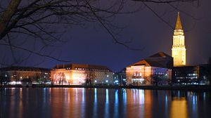 Opernhaus Kiel - The Kiel Opera House with Kiel Town Hall
