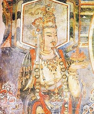 Jin dynasty (1115–1234) - Jin dynasty fresco of a Bodhisattva from Chongfu Temple (崇福寺), Shuozhou, Shanxi.