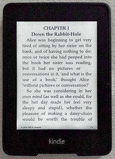 Amazon Kindle e-book reading device