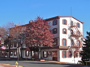 Bristol, Pennsylvania - The historic King George II Inn, in downtown Bristol
