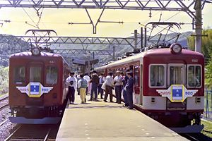 Shiraki Station - Single track era (May 4, 1987)