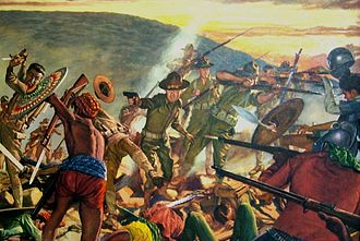 8th Infantry Regiment (United States) - Image: Knocking Out the Moros. DA Poster 21 48