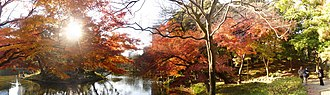 Koishikawa-Kōrakuen - Panorama of fall colors