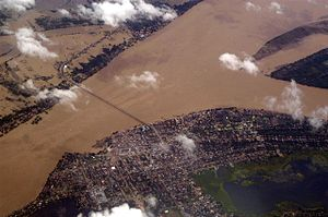 Kampong Cham Province - Aerial view of the province